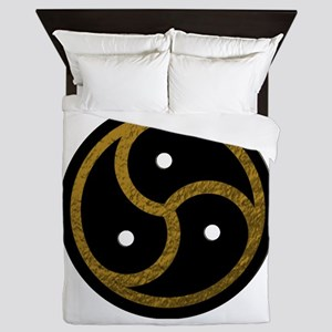 Gold Metal Look BDSM Emblem Queen Duvet